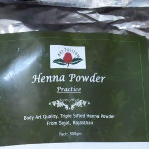 Henna powder Practice