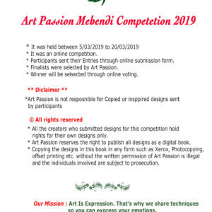Mehendi competition 2019 digital book